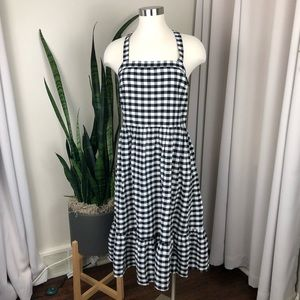 Loft Outlet Gingham Midi Dress 4
